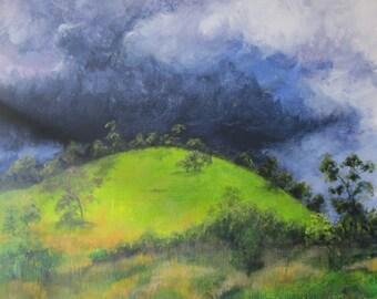 Australian landscape original painting 'Storm over Wombalano'