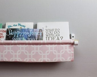 Book Sling - Light Pink and White Gotcha Linking Box - Choose your size