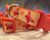 Dog Collar With Cute Crabs, In M, L, XL For Summer