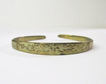 Vintage Bracelet - Victorian Revival - Scroll and Floral Design - 1930s
