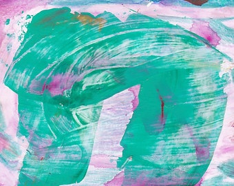 Abstract Painting #3 - Acrylic ACEO ATC - Giclee Print