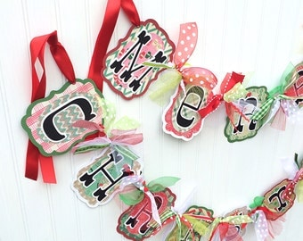 Christmas Decoration MERRY CHRISTMAS Banner