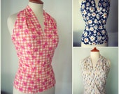 Halter blouse made from original 1950s pattern in all sizes and big variety PATTERNED FABRICS