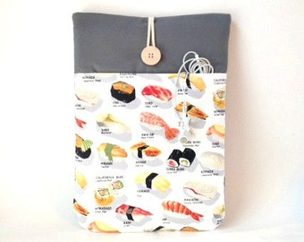 Sushi MacBook Pro Sleeve, MacBook Pro Touch Bar, MacBook Air 13 Sleeve, MacBook Pro Case, MacBook Pro 13 Case, Laptop Case, MacBook Cover