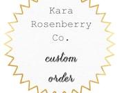 Custom Order for Lorna