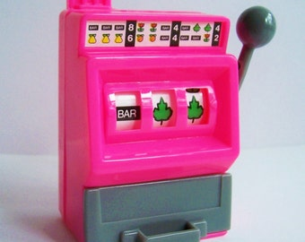 Jackpot Slot Machine Cake Topper- Choose Color Yellow, Purple, Orange