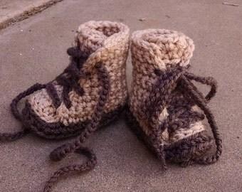 Baby Booties, Combat Boots, Baby Boots, Crochet Baby Booties