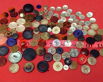 Button Lot - 113 Assorted Buttons