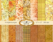 Warm Fall Digital Paper Pack *******INSTANT DOWNLOAD*********