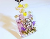 Pentacle Symbol Real Flowers Moss Nature Necklace Resin Glitter Star Pendant Bohemian Jewelry Pentagram Earth Pagan Wiccan Wicca Spiritual