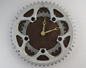 Recycled FSA Bicycle Double Chainring Wall Clock