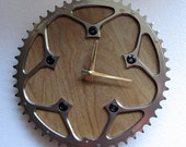 Recycled Stronglight Ovoid Bicycle Chainring Wall Clock