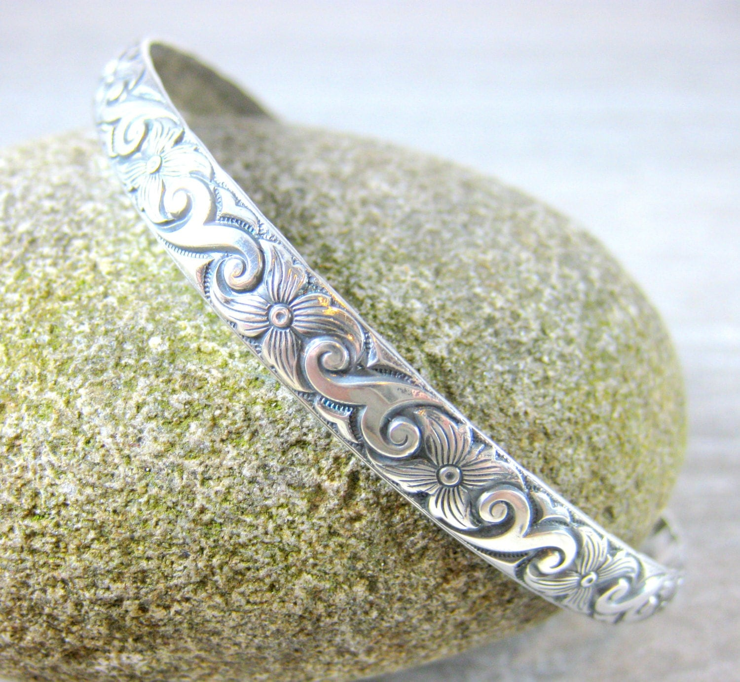 my com bangle a favourite etsy silver s cuff pin bangles shop textured personal from wide