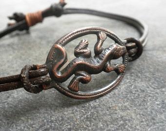 Bohemian Jewelry Boho Style Bracelet Lizard Reptile