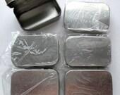 Metal Tins, Metal Box, Mini Box, Mini Tins, Set of 6 Tins