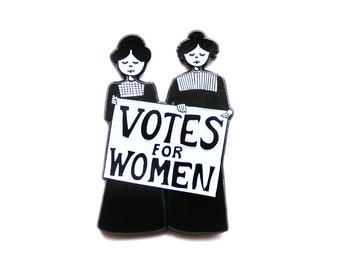 Votes for Women // suffragette feminist enamel lapel pin