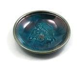 Morrigan Offering Bowl RAKU Handmade Pottery