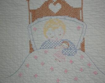 Vintage Crib Cover