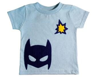 POW! Superhero Toddler T-Shirt - Light Blue - Boy or Girl