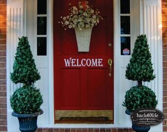 Welcome Vinyl Decal - Exterior Door (E-001)