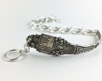 Los Angeles Bracelet, Los Angeles Jewelry, Los Angeles Gift, Spoon Jewelry, Spoon Bracelet, Chunky Chain Bracelet, Wife Gift, LA Souvenir