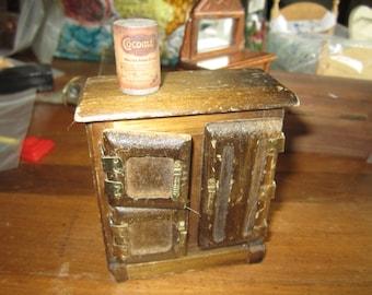 Dollhouse  Decor. Miniature Vintage Icebox. Cocomats. #180