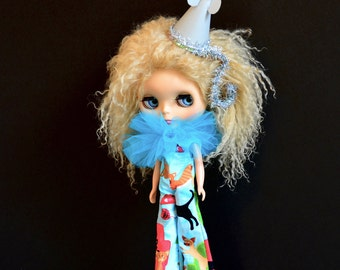 Sale - A Game of Cat and Mouse - Circus Clown Costume for Blythe Doll