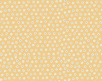 Calico Daisy Yellow- Calico Days by Lori Holt for Riley Blake-C6034-Yellow