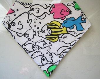 fish bandanna bib