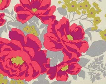 1 Yard Home Decor Free Spirit Joel Dewberry -  FLORA-Rose BOUQUET-Poppy SaJD029
