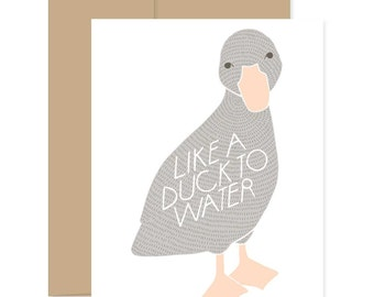 Duck to Water Card