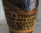 Vintage 1960's Souvenir Wood Toothpick Holder