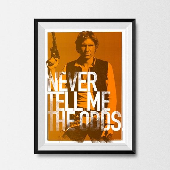Star Wars, Print, Han Solo, Print, Star Wars Print, Star Wars Poster, Star Wars Gift, Han Solo Print