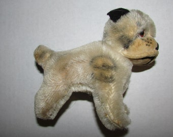 STEIFF  Vintage Mohair Bully Bulldog DOG 1950's