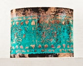 Valentine's Leather Cuff Turquoise Painted Teal Jewelry - Fashion Gift, February Trends, Leather Wristbands for Women, Handmade Finds