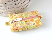 Small Boxy Pouch Orange and Yellow Coin Purse Colorful Change Purse Zipper Pouch