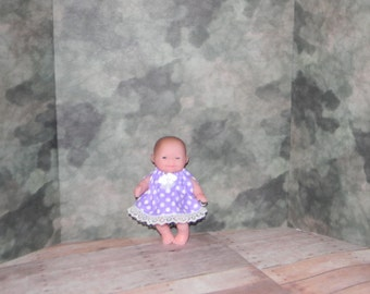 5LC1-17) 5 inch Lil Cutesies Berenguer baby doll clothes, 1 pretty dress and panties