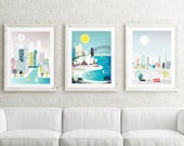 City Skyline Wall Art, Large Prints for Home, Pick ANY images in my shop; LARGER (11x14 / 11x15 / 15x19). New York, Paris, London, Chicago