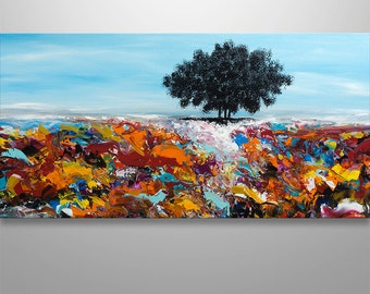 Abstract Painting,Wall Decor, Home Decor, Abstract Wall Art, Tree, Trees, Abstract Landscape Home Decor Modern Landscape Large Original Art