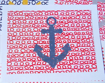 Flat Nautical Note Cards - Nautical Postcard note cards - Nautical Notecards - Flat nautical note cards - Anchor Note cards - fanc