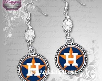 Houston Astros Inspired Earrings
