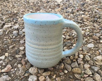 Pottery Mug, Handmade Mug, Blue Mug, Ceramic Mug, Coffee Mug, Handmade, Stoneware, Mug, Rustic, Blue, jclayPottery, j clay, wheel thrown