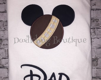 Chewbacca Star Wars Mickey shirt