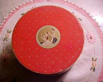 Vintage Art Deco RICHARD HUDNUT Three Flowers Dusting Powder Lg Sz  Never Opened/Cosmetics Home Decor