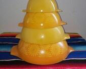 Sunflower pyrex set