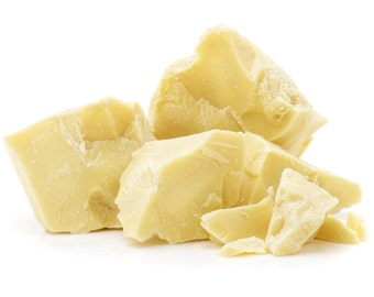 Raw Cocoa Butter, 1/2 lb | 8 oz Unrefined Cocoa Butter | 100% Natural