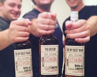 Will you be my Groomsman - Wedding Groomsman Liquor Labels - Will you be my Best Man - groomsmen gift labels - groomsman labels