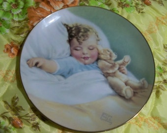 BESSIE PEASE gutmann  plate happy dreams bundles of joy