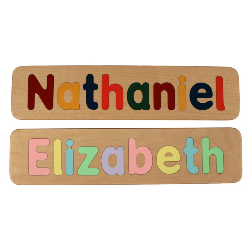 Name Puzzle Raised Letter Option Custom Personalized