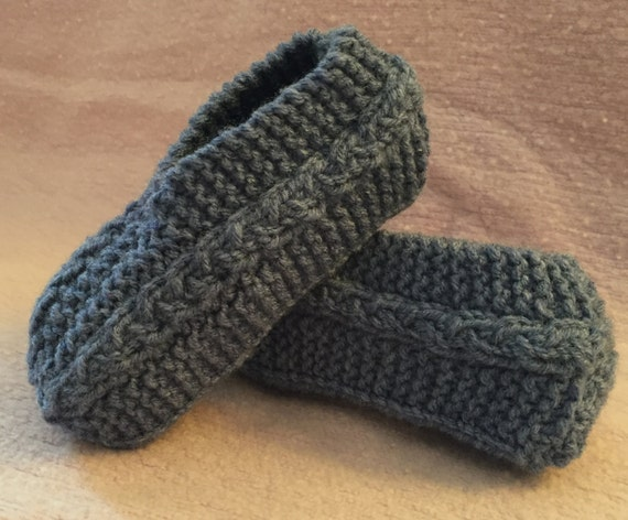 Knitting Shoes Tutorial : Cable knit slippers tutorial knitting pattern for kindle